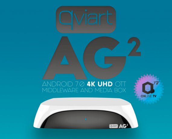 Receptor IPTV Qviart AG2 Blanco Android 7.0 4K