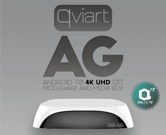 Qviart AG White Android 7.0 4K IPTV Receiver