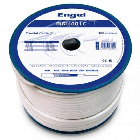 Cable Coaxial Cu/CCS DIGI-100LC Interior PVC Blanco (100m)