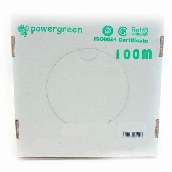 Cable FTP Categoría 6 Interior PVC Gris Powergreen CAB-06100-BFT