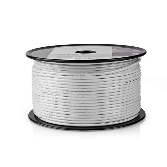 Cable Coaxial RG6 CCS/Al Interior PVC Blanco 100m