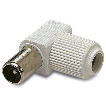 Conector CEI macho color  blanco