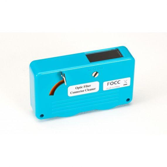 Carrete para limpieza de conectores ópticos