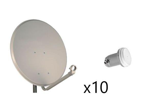 Kit Parabólica 60 cm Daxis + LNB x10 Sin Soporte
