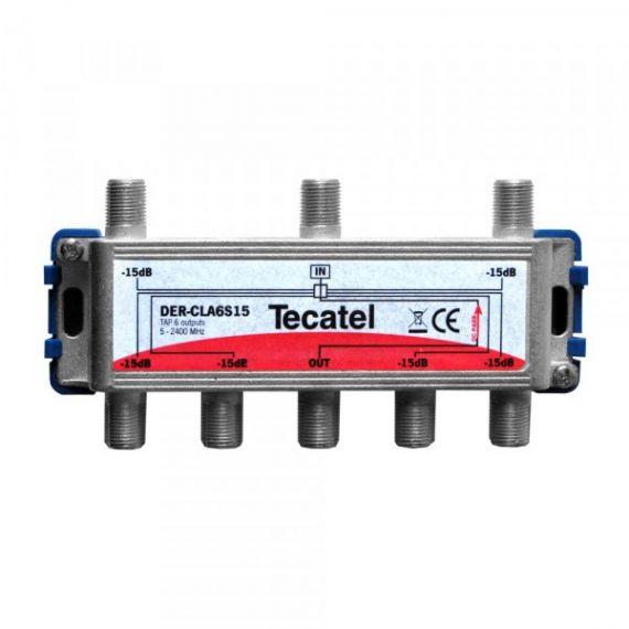Derivador TDT-SAT 6 Salidas F 15dB Tecatel DER-CLA6S15