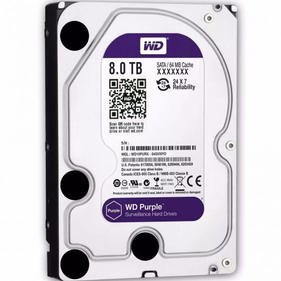 "Hard Drive 8Tb sata HDD 3.5"" Purple"