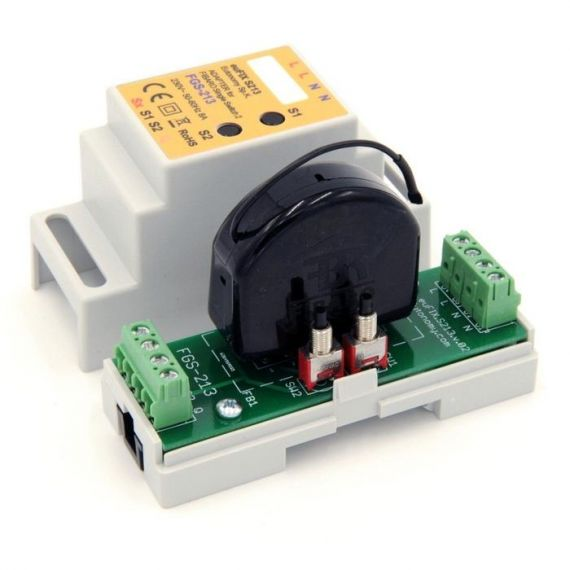 Adaptador DIN euFIX para Single Switch FGS-213 de Fibaro
