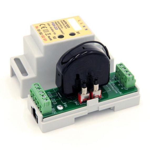 Adaptador DIN euFIX para Double Switch FGS-223 de Fibaro
