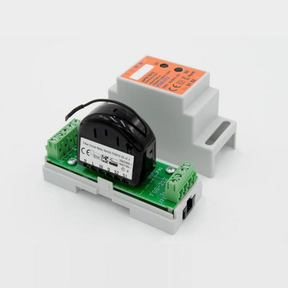 Adaptador DIN euFIX para Relay Switch FGS-212 de Fibaro