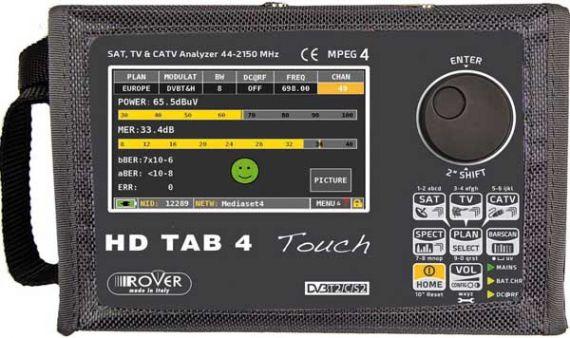 Medidor de campo HD TAB 4 TOUCH frontal