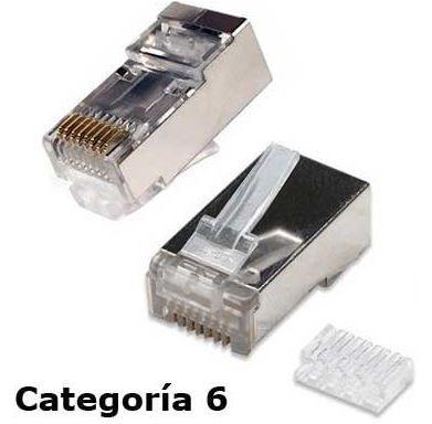 Conector RJ45 CAT6 con guía