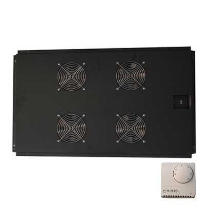 Ventilación con termostato para racks de 1000mm frontal