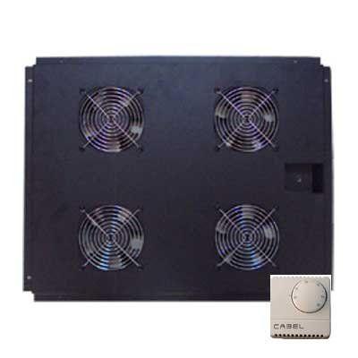 Ventilación con termostato para racks de 800mm. frontal