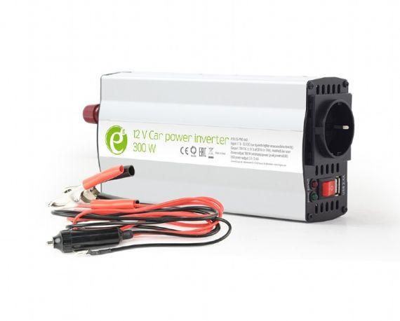 Inversor Coche 12VDC - 230VAC 300W 1 Schuko + USB