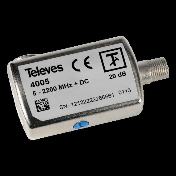 Atenuador Regulable de 0 a 20dB c/paso DC 5-2200 MHz 4005 Televes