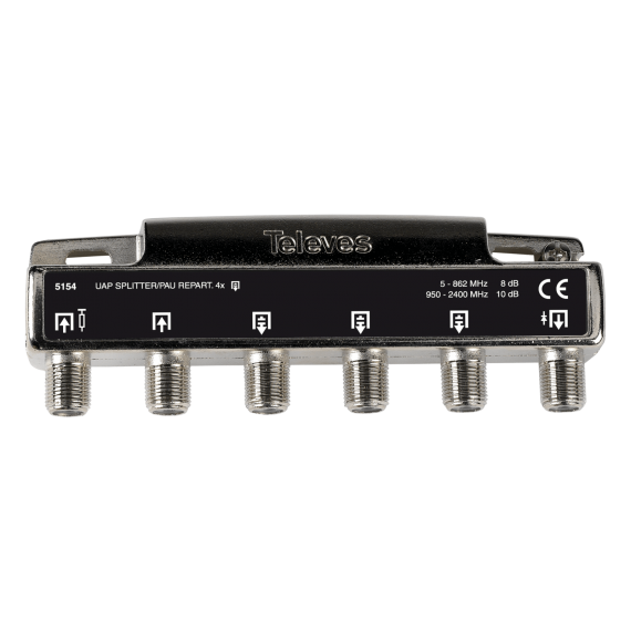 Splitter with UAP 5 outputs F Televes 5154