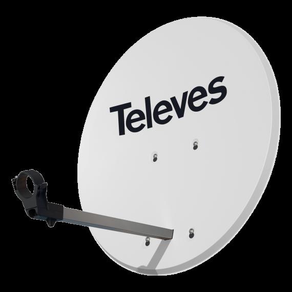 Antena Parabólica ISD Televes 830 Aluminio Blanca