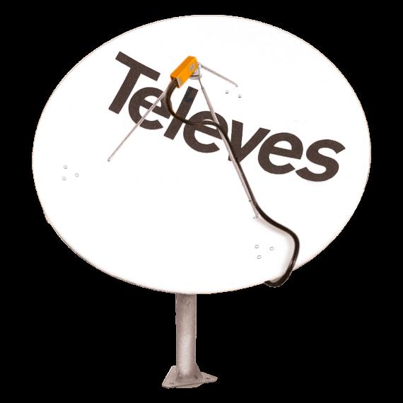 1.8m Centered Focus Satellite Dish Televes 7489