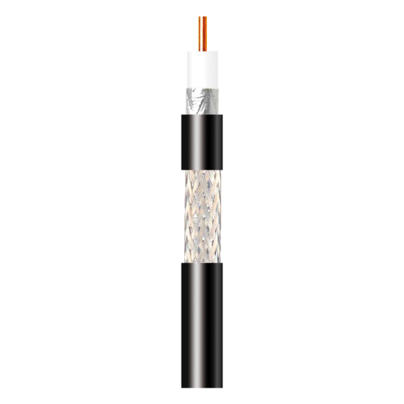 Cable Coaxial T100 Interior PVC Negro Televes 212602