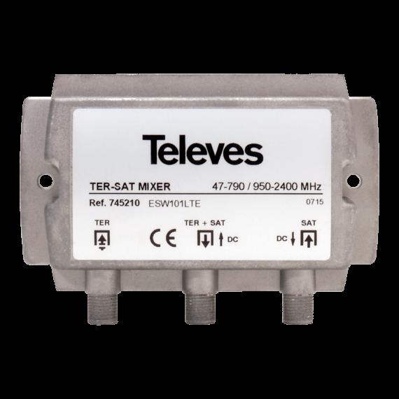 Mezclador Terrestre y Satélite Televes 745210