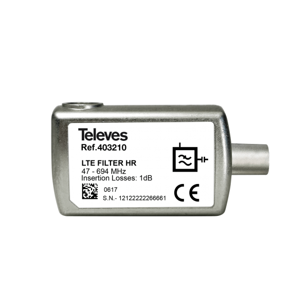 Indoor 5G LTE filter with CEI connector Televes 403210