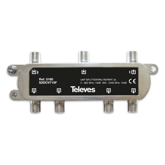 Splitter with UAP Televes 5160 5 outputs F