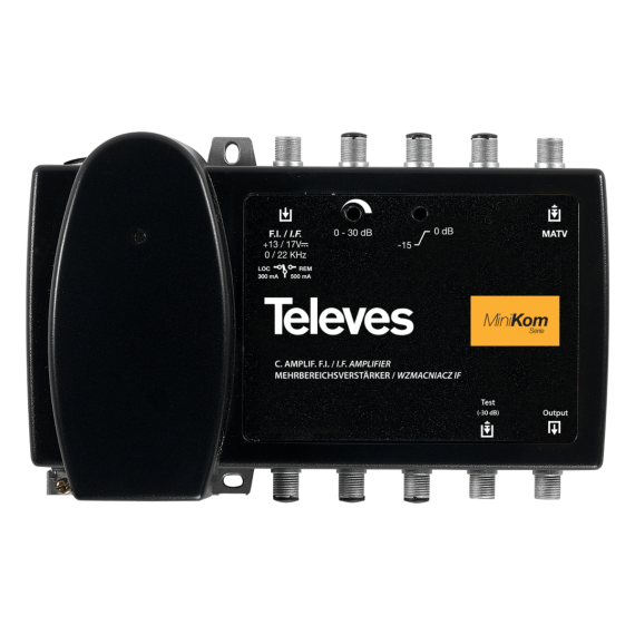 Central Amplificadora SAT 48dB Minikom con Mezcla UHF/VHF