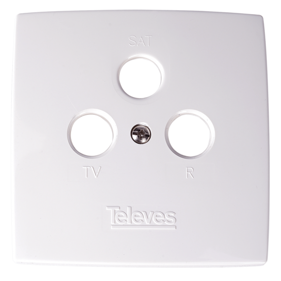 Embellecedor Televes 544302 para tomas R-TV-SAT