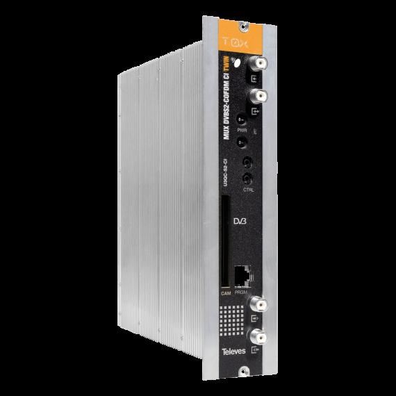 Transmodulador DVBT, DVBS/S2 COFDM CI TWIN de Televes