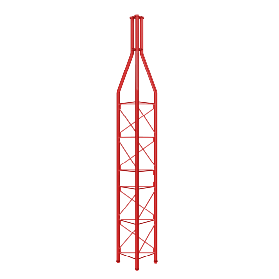 Upper Red Section Tower 450 Televes 3133