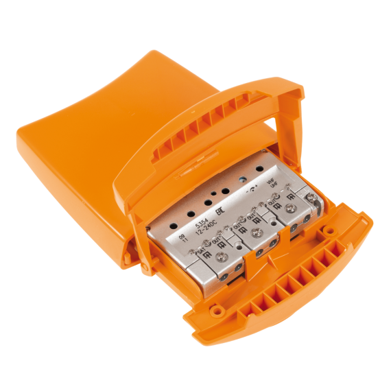 Amplificador Mástil 2 Entradas UHF/VHFmix-FImix y 4 Salidas LTE