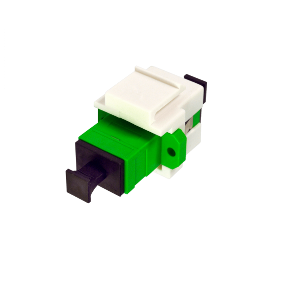 FO ICT-2 socket: Keystone Module + SC/APC Adapter