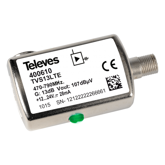 UHF 13dB LTE Televes 400610 Line Amplifier