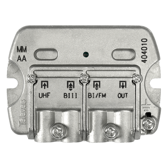 Mezclador terrestre BI/FM BIII UHF Televes 404010