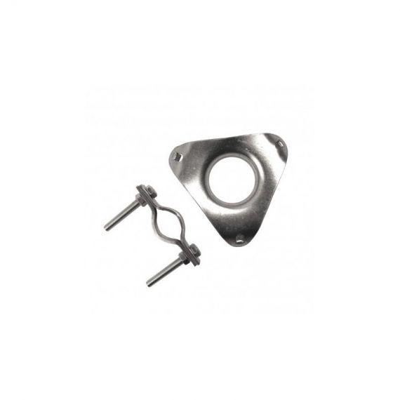Placa + Brida JV40 de Ferroval para Vientos de Mástil 40mm