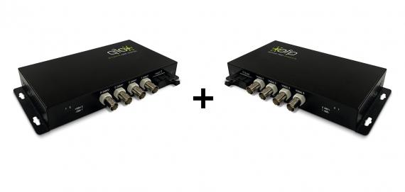 Kit Receiver Optical Receiver 4ch HD-CVI/TVI/AHD ZK-V4H-SC
