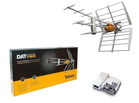 Kit de antena con dipolo activo y fuente de alimentación