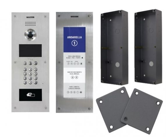 Kit FERMEET-D con placa Marine Meet 1455 + placa Directorio 1456 + carcasa de empotrar 1459 + juego de separadores 14591