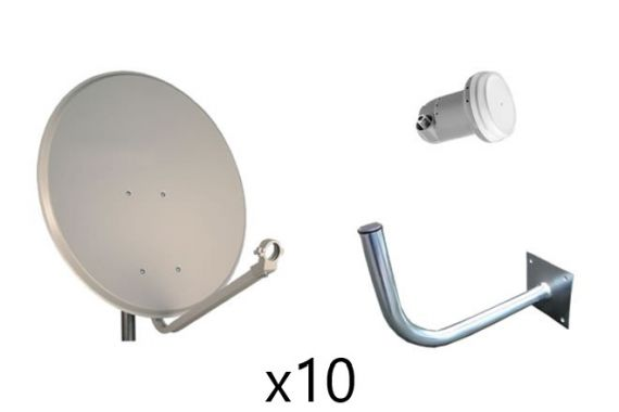 Kit Parabólica 60cm Daxis + LNB + Soporte (x10)