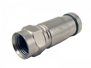 RG6 straight compression F connector