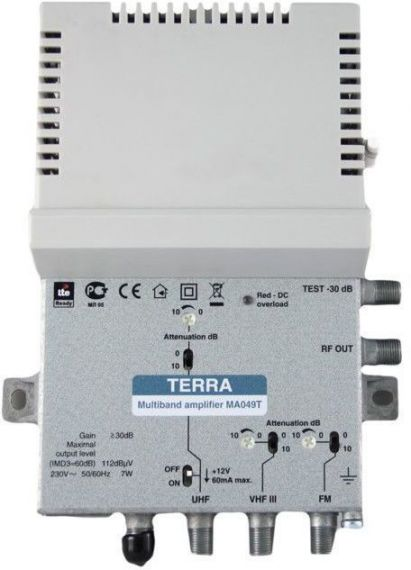 Broadband Central UHF-VHF-FM 34dB 5G Terra MA049T