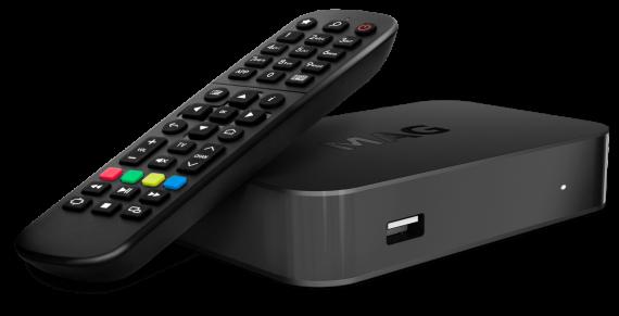IPTV OTT 4K H.265 MAG420w1 WiFi Receiver