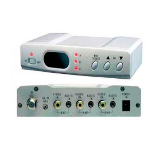 Modulador UHF Illusion, 3 canales simultaneos
