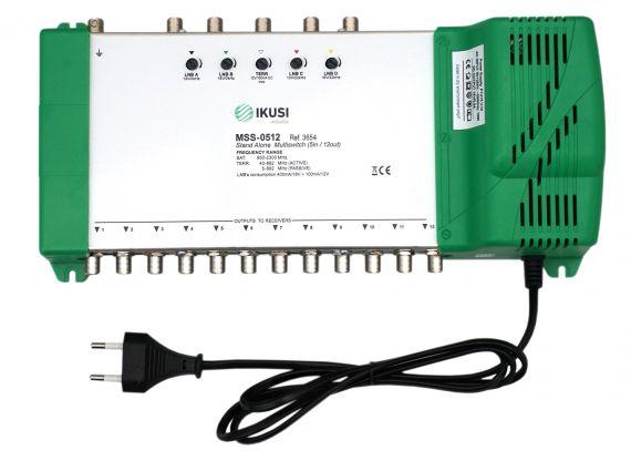 Multiswitch FI 5 Entradas x 12 Salidas MSS-0512 Ikusi 3654
