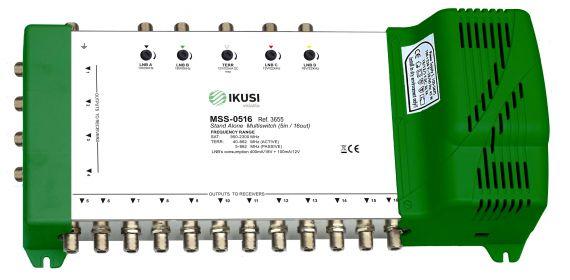 Multiswitch FI 5 Entradas x 16 Salidas MSS-0516 Ikusi 3655