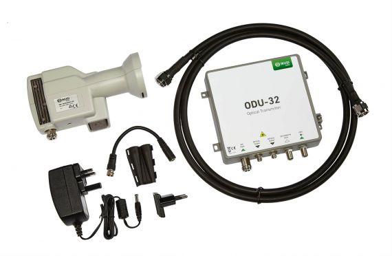 Optical LNB Kit + Emitter + Power Supply + Coaxial Ikusi 4957