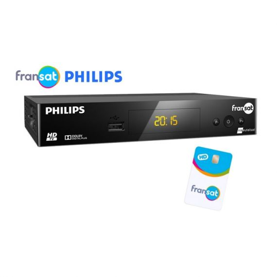 Philips DSR3031F HD FRANSAT Receiver + Card