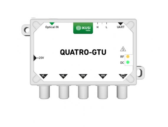 Receptor Óptico 4 SAT+TDT QUATRO-GTU Ikusi 4953