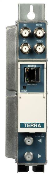 Transmodulator 8 DVB-S2 to 4 DVB-T TDX440 from Terra