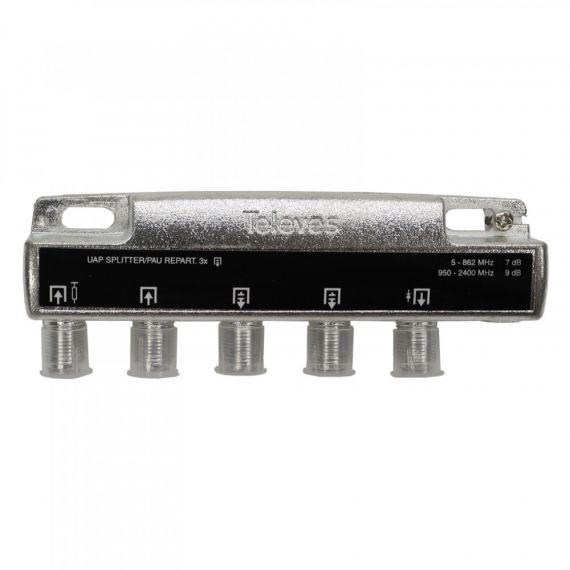 Televes 515120 splitter 3 outputs F 7/9dB. Inside instalation